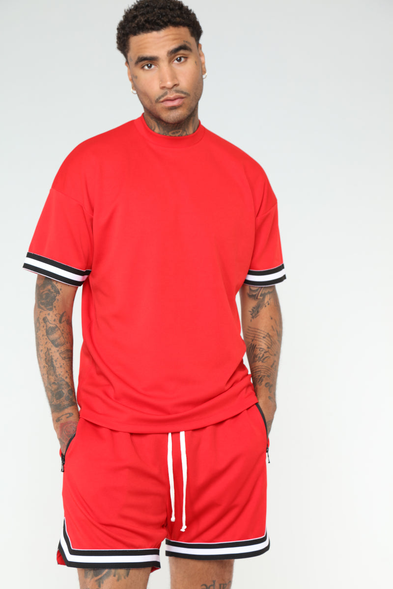 Dwayne Short Sleeve Tee - Red