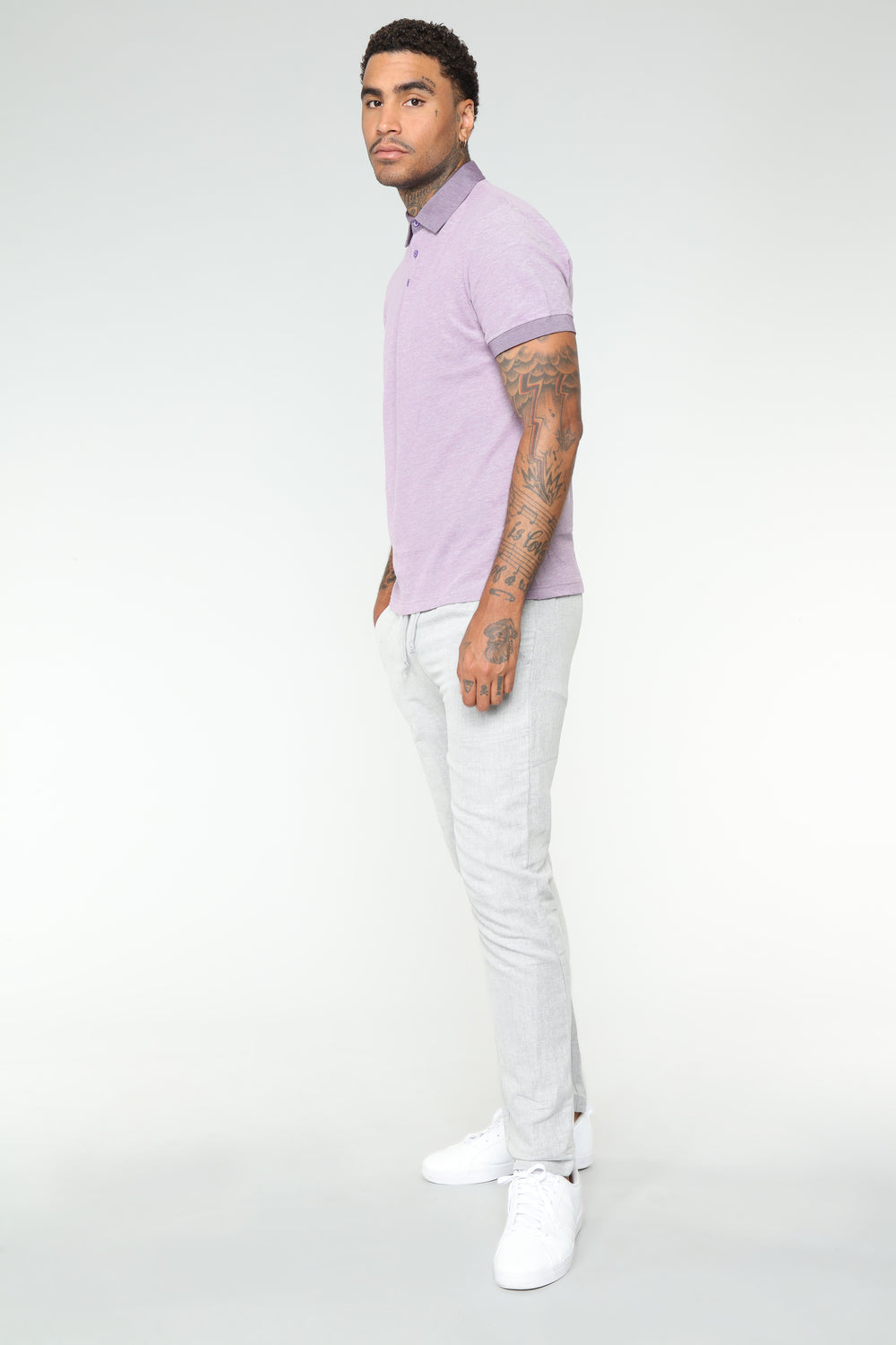Ronny SS Polo Top - Purple
