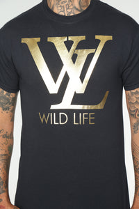 Wild Life Short Sleeve Tee - Black
