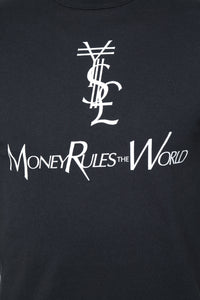 Money Rules Short Sleeve Tee - Black/White