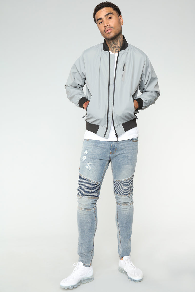 Willy Bomber Jacket - Grey