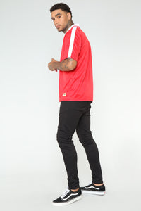 Johnson Short Sleeve Polo - Red