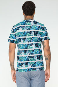 Foliage Short Sleeve Tee - Blue