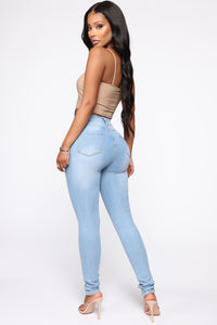 Marilyn High Waisted Skinny Jeans - Light Wash
