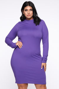 Just One Call Away Mini Dress - Violet Angle 1