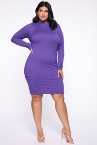 Just One Call Away Mini Dress - Violet Angle 3