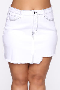 Better With You Denim Skirt - White Angle 8