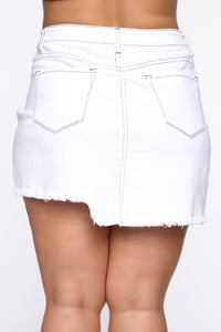Better With You Denim Skirt - White Angle 9