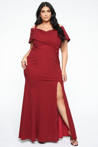Evening Debut Gown - Burgundy