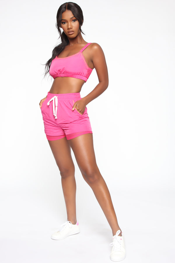 9ab841a2fe Don't Play Me Shorts - Pink/Orange