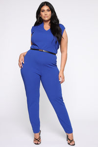 More To Love Jumpsuit - Blue Angle 1
