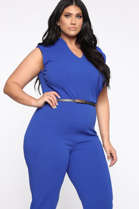 More To Love Jumpsuit - Blue Angle 2