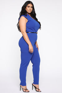 More To Love Jumpsuit - Blue Angle 3