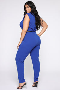 More To Love Jumpsuit - Blue Angle 4