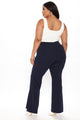 Victoria High Waisted Dress Pants - Navy