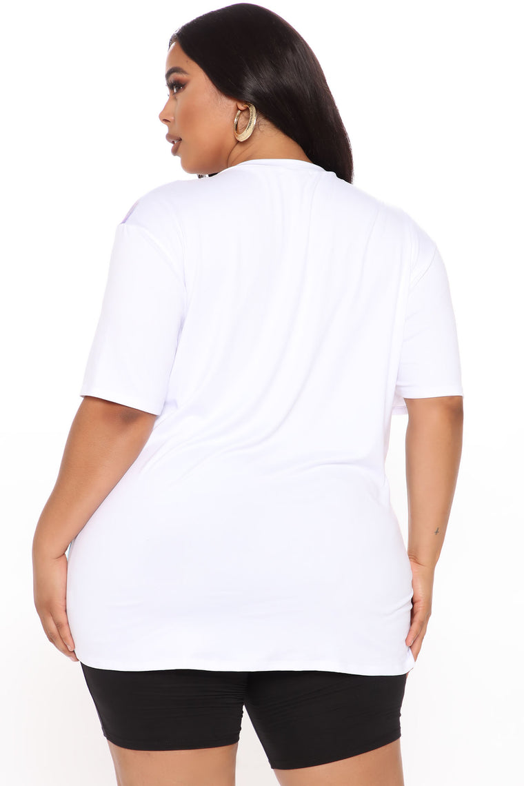 Bad Ass Boss Tunic Top - Ivory/combo