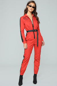Out Of This Nova Jumpsuit - Red Angle 1