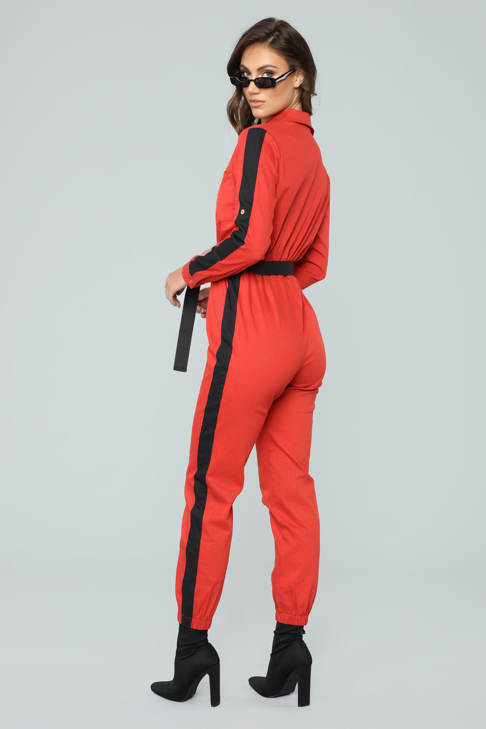 Out Of This Nova Jumpsuit - Red