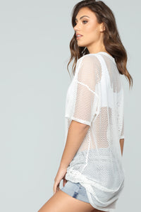 Dripping In Nova Cover Up Dress - Off/White