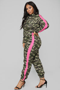 Queen Of The Squad Jumpsuit - Camo