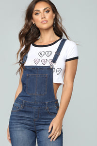 Over And Out Overalls - Dark Denim