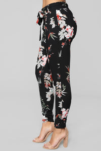 Floral Fever Pants - Black Multi