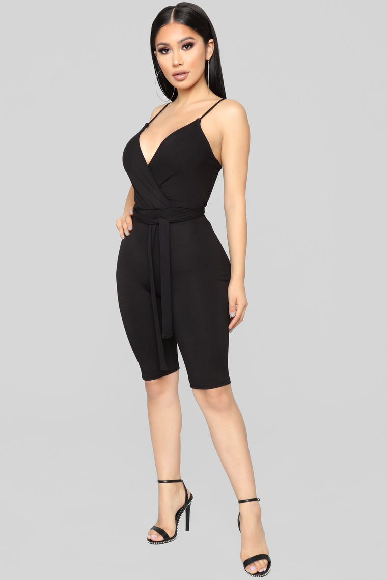 Ridin' Down The Block Romper - Black