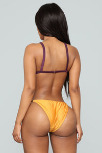 Picture Me Perfect Bikini Set - Rust