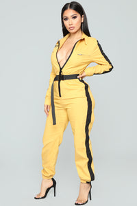 Out Of This Nova Jumpsuit - Mustard