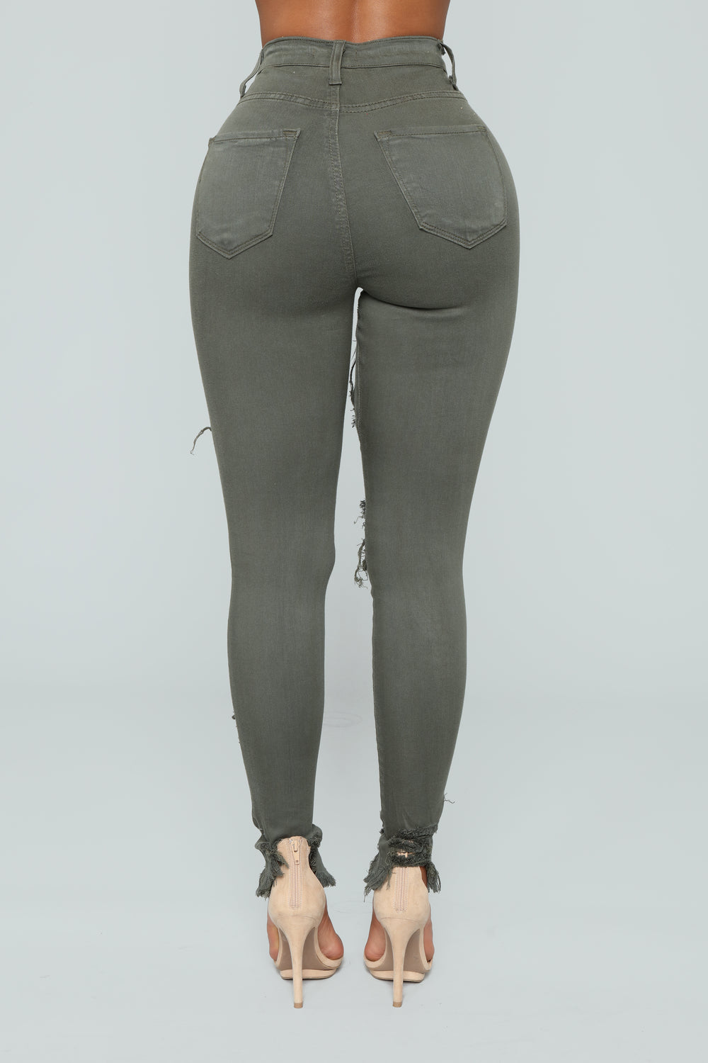 Take Back Home Girl Skinny Jeans - Olive