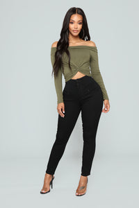 Miranda Waist Sculpting Jeans - Black