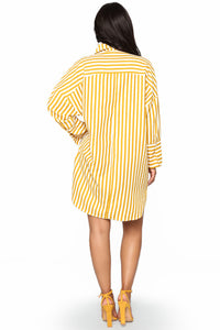 Underlying Meaning Stripe Tunic - Mustard