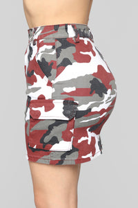 Cadet Riley Cargo Skirt - Red