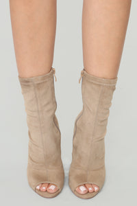 Nothing More Than Friends Booties - Taupe