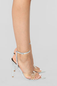 Judgement Free Heeled Sandal - Silver Angle 4