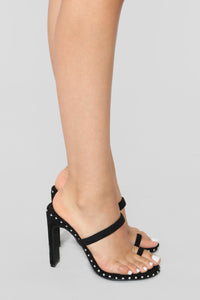 Don't Be So Envious Heeled Sandal - Black
