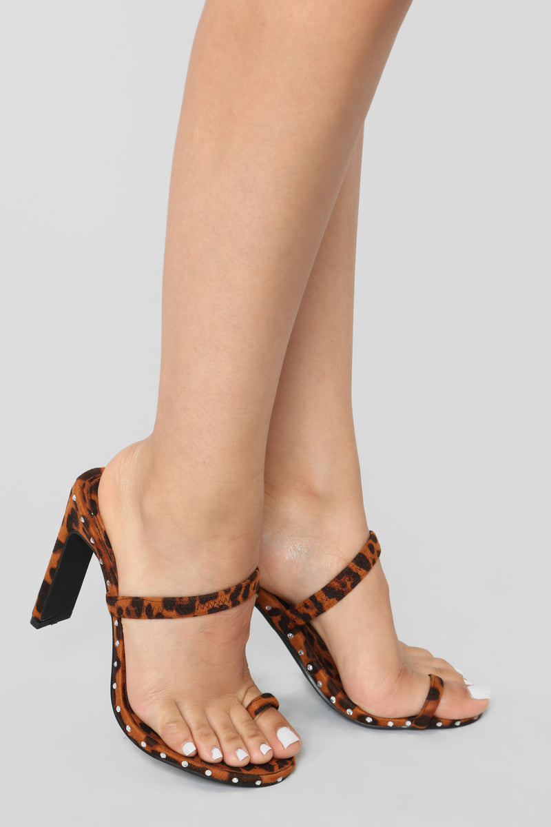 Don't Be So Envious Heeled Sandal - Leopard