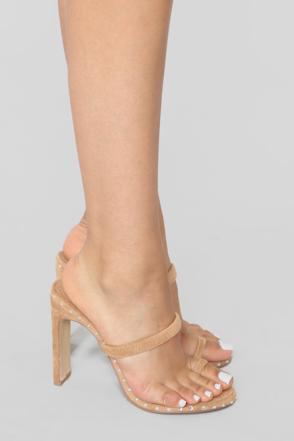 Don't Be So Envious Heeled Sandal - Nude
