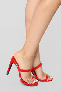 Don't Be So Envious Heeled Sandal - Red