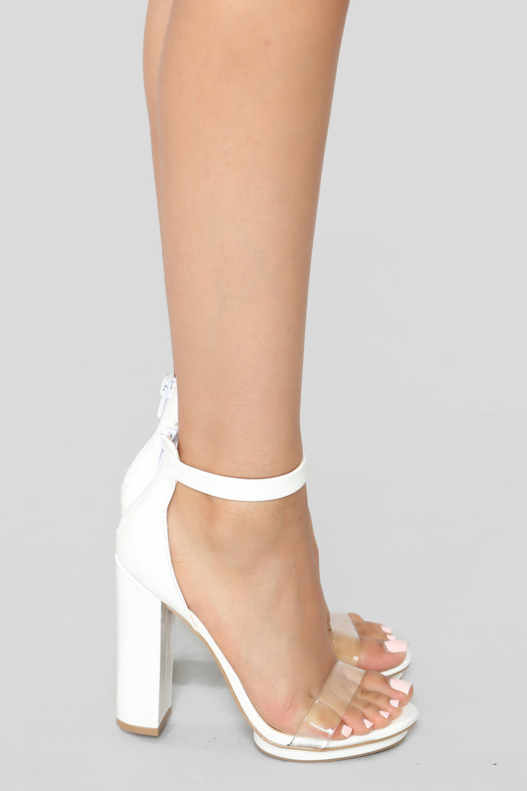 Strap You In Heels - White