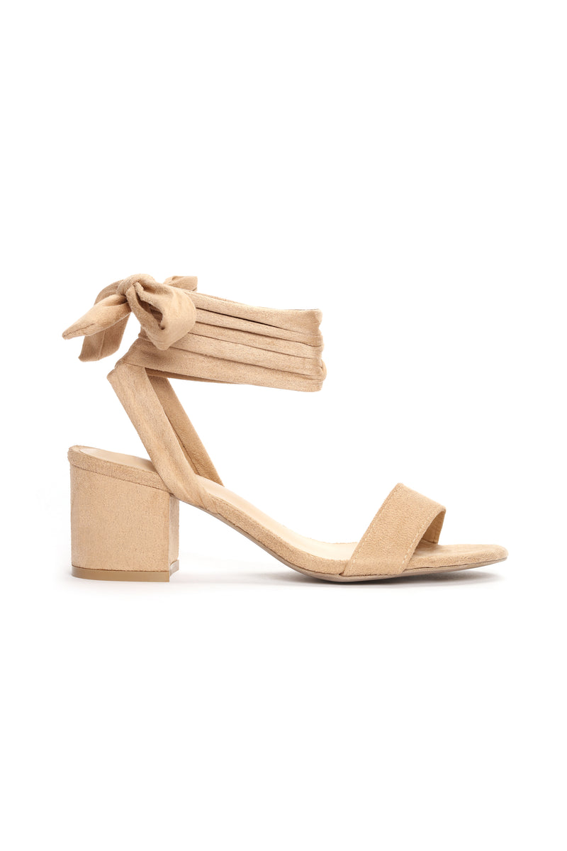 So Tied Of You Sandals - Taupe