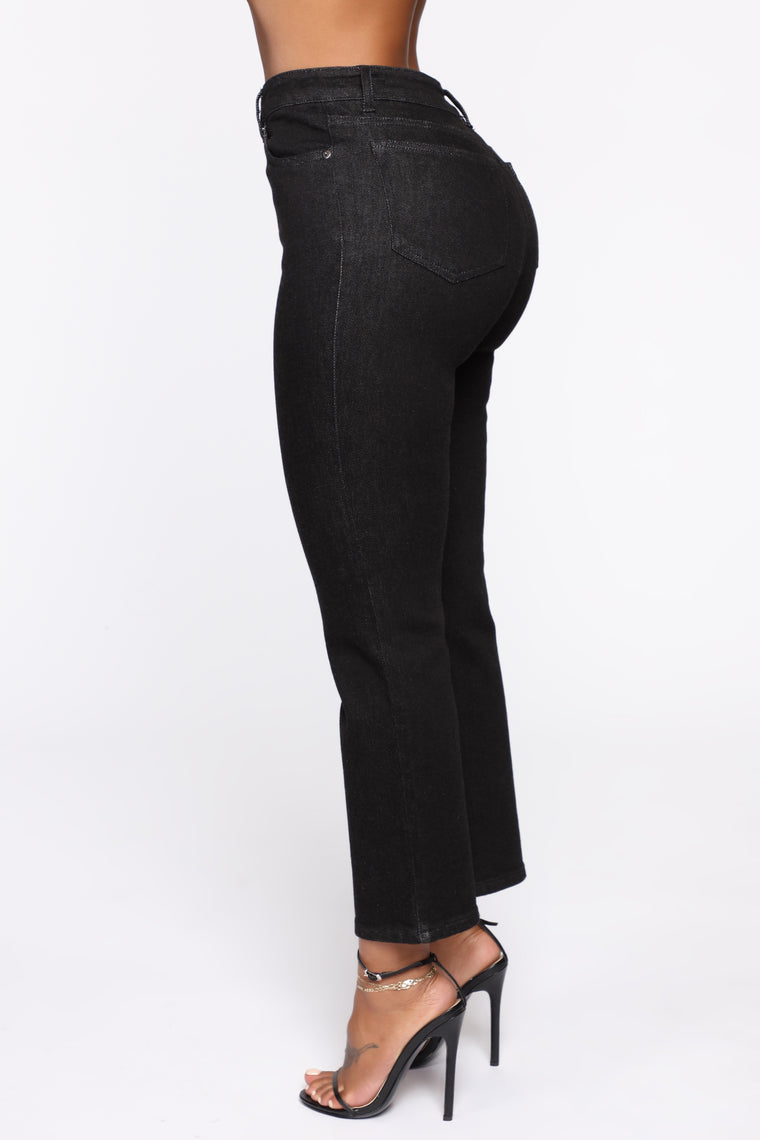 Chelsea High Rise Mom Jeans - Black