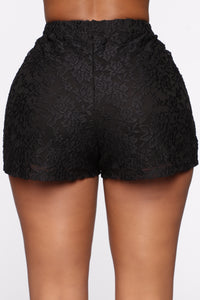 Sweet Love Laced Shorts - Black