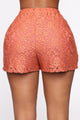 Sweet Love Laced Shorts - Rust