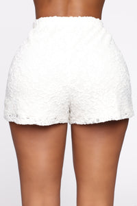 Sweet Love Laced Shorts - Off White