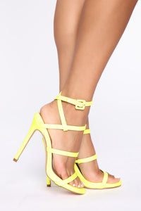 Into The Night Heeled Sandals - Yellow