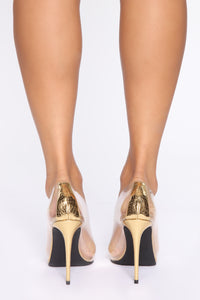 Crystal Pumps - Gold