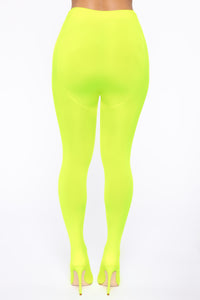 You Alright Heeled Boots - Neon Yellow