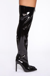 The Baddest Heeled Boots - Black