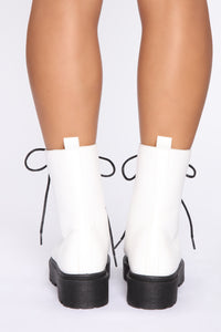 Ride With Me Booties - White